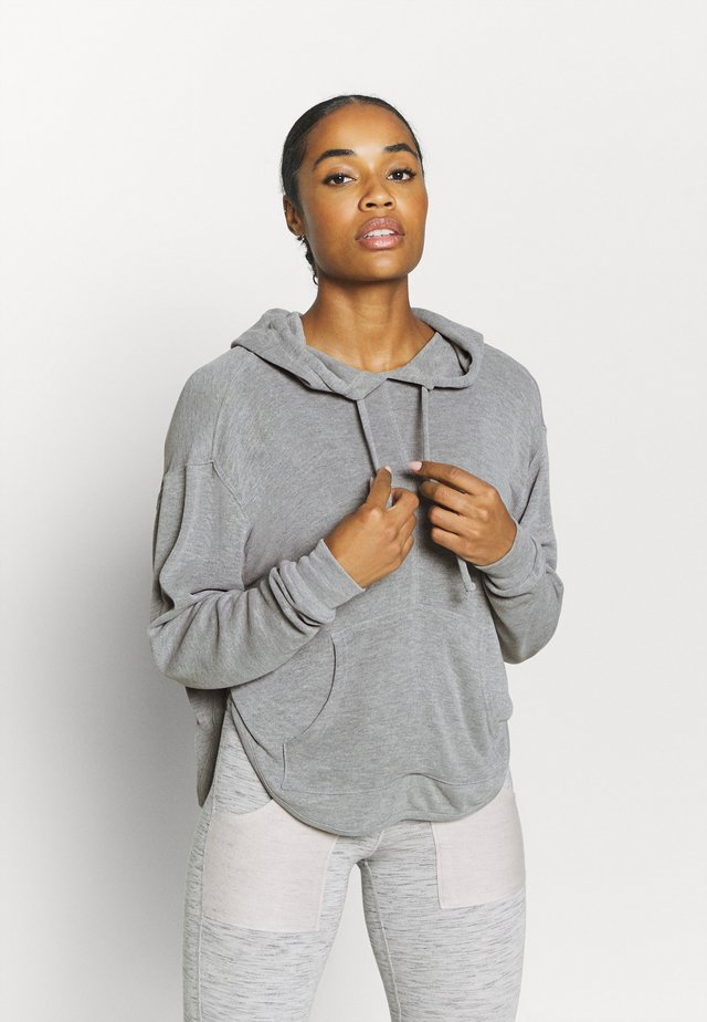 BACK INTO IT HOODIE - Luvtröja - grey combo