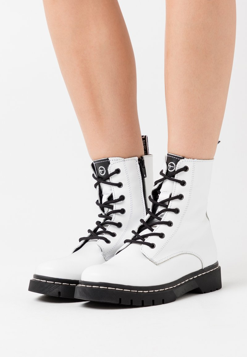 Tamaris - BOOTS - Lace-up ankle boots - white