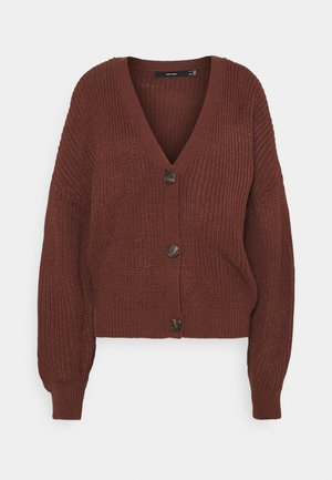 VMLEA V NECK - Cardigan - sable