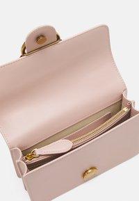 Pinko - LOVE MINI ICON JEWEL ANTIQUE - Across body bag - cipria - 2