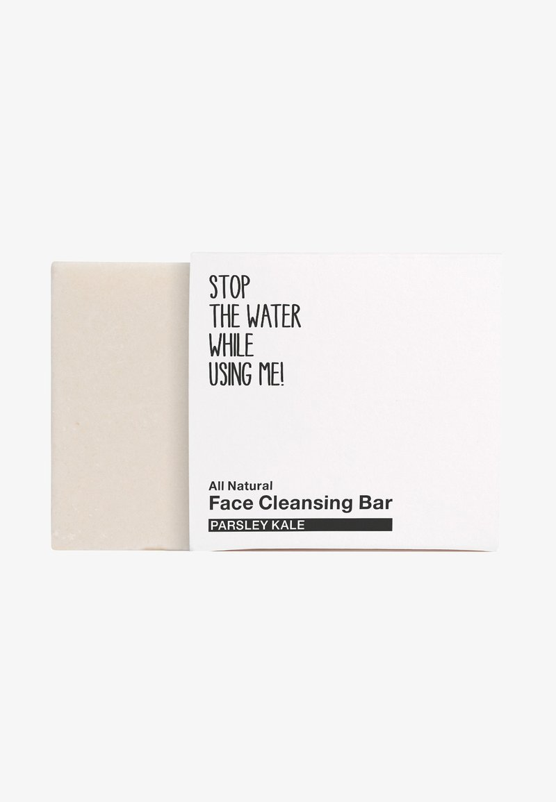 STOP THE WATER WHILE USING ME! - ALL NATURAL PARSEY KALE FACE CLEANSING BAR - Cleanser - black/white