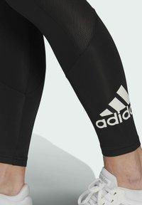 adidas Performance - DESIGNED TO MOVE BIG LOGO SPORT LEGGINGS - Collants - black - 4