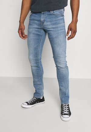 REBEL PANT SPICER - Slim fit -farkut - blue mid used wash