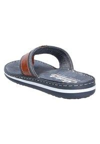 Rieker - MODISCHE PANTOLETTE - T-bar sandals - peanutnavy (24) - 2