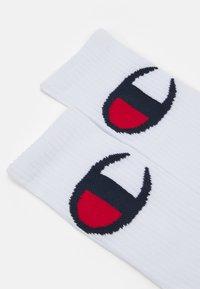 Champion - CREW ROCHES UNISEX  2 PACK  - Sports socks - white - 1