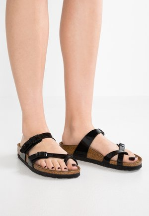 MAYARI - T-bar sandals - schwarz