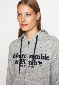 Abercrombie & Fitch - LONG LIFE FULL ZIP - Bluza rozpinana - grey - 4