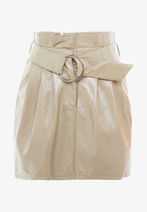 PATENT SKIRT - A-line skirt - mocha