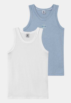 MILLERAIES 2 PACK - Undershirt - white/blue