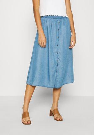 PCWHY - A-snit nederdel/ A-formede nederdele - light blue denim