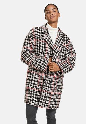 Classic coat - black gemustert
