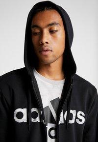 adidas Performance - CAMO LIN - Sweatjacke - black/white/grey one - 4