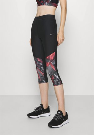 ONPJUDIE TRAINING  - Tights - black/fiery coral