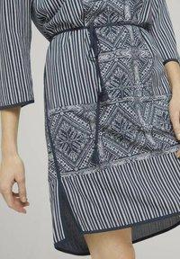 TOM TAILOR - Day dress - navy white ethno design - 3