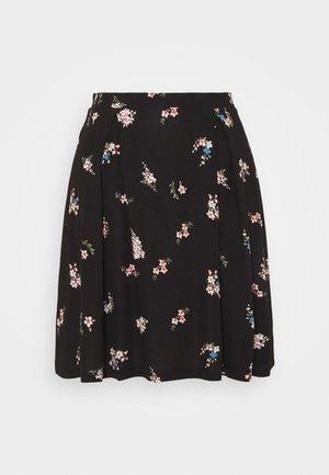 A-line skirt - black/white/blue