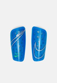 Nike Performance - MERCURIAL LITE UNISEX - Shin pads - photo blue/rage green/silver - 0