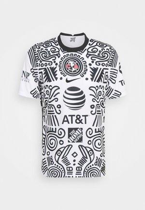 CLUB AMERICA - CLUB WEAR - Print T-shirt - white/black