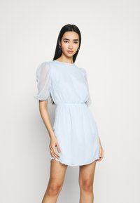 Missguided - PUFF SLEEVE SKATER DRESS - Day dress - baby blue - 0