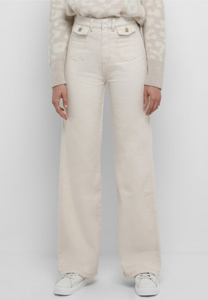 Flared Jeans - off white