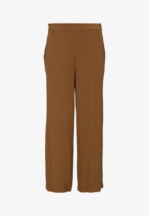 MIT BINDEGÜRTEL - Trousers - mango brown