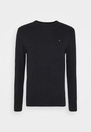 PIMA CREW NECK - Trui - black
