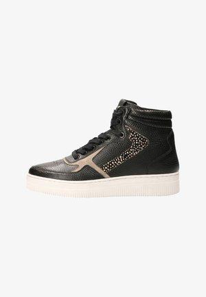 MONA LEATHER LEATHER - Sneakers hoog - black/pixel black