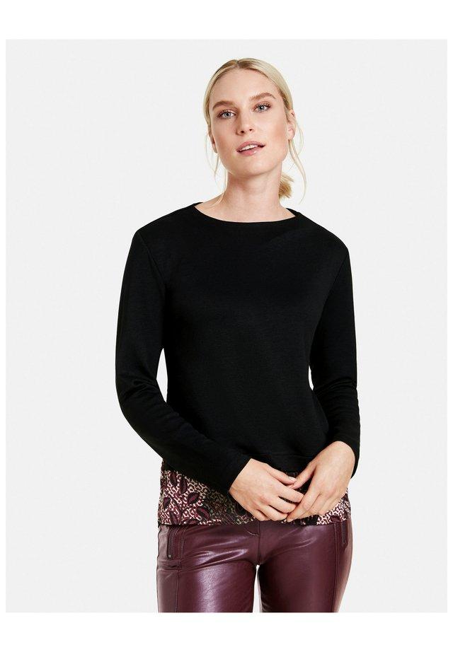 T-shirt à manches longues - black gemustert