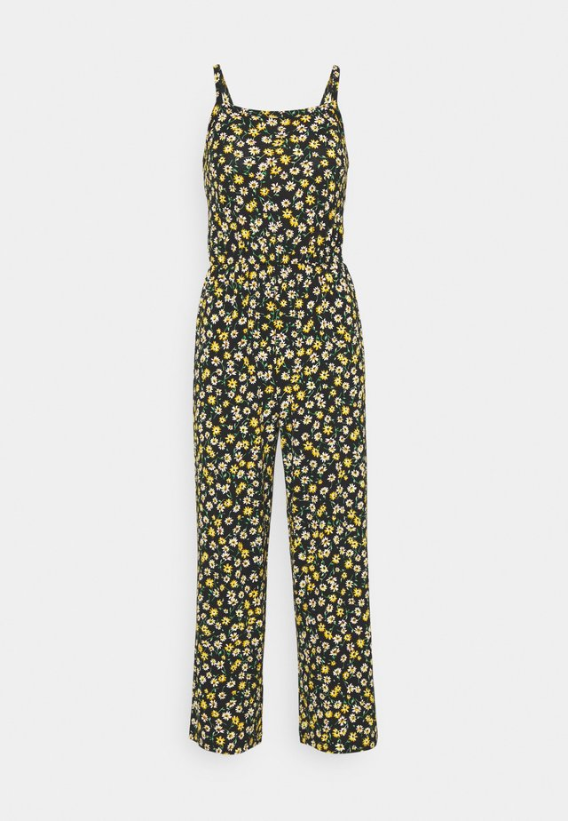 JDYALINA STRAP - Jumpsuit - black/yellow
