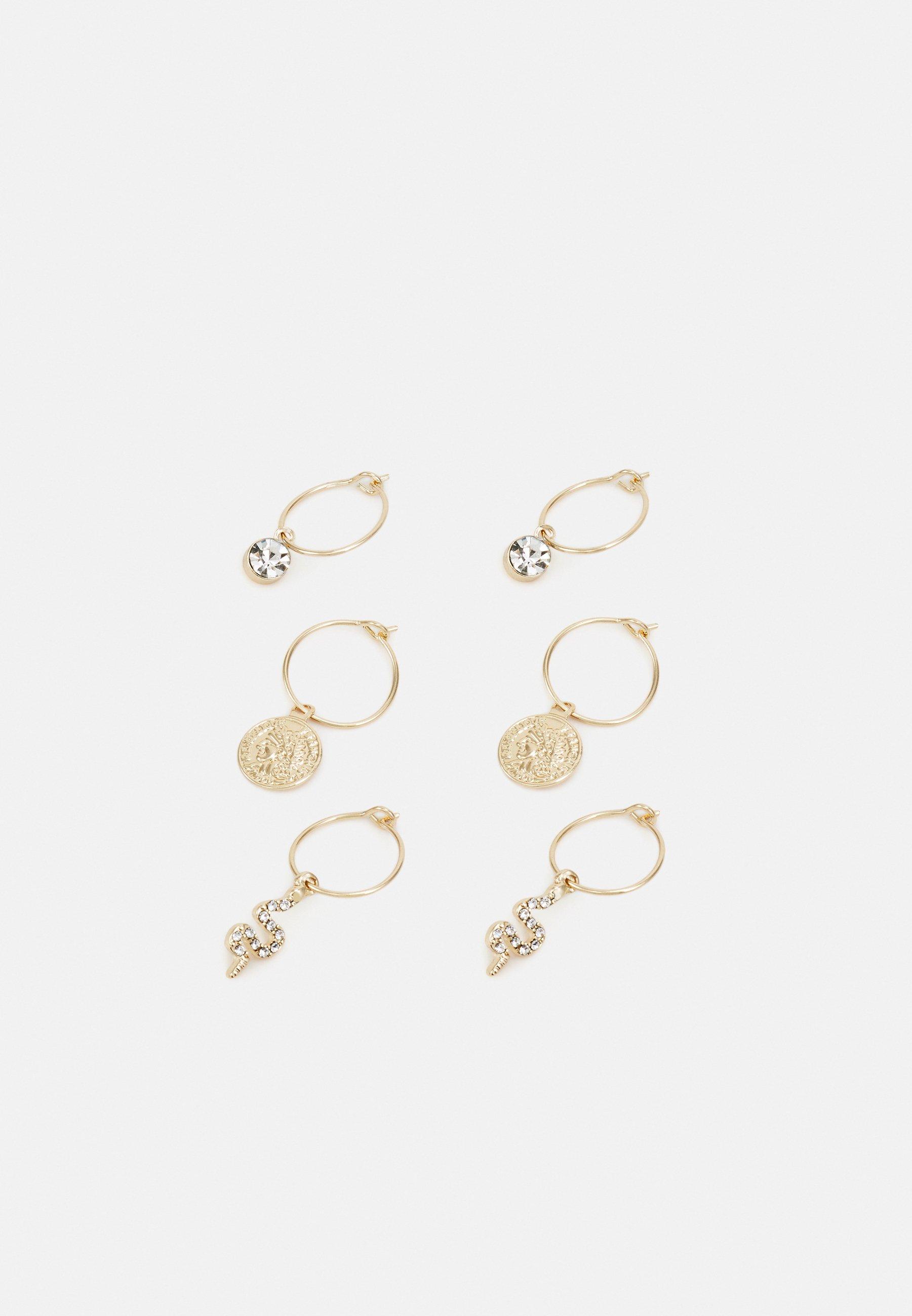 Women WIRE HOOPS 3 PACK - Earrings