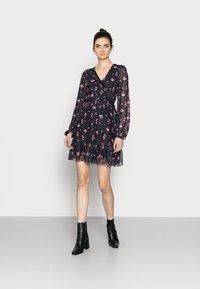 Even&Odd Tall - Day dress - black/multi-coloured - 1
