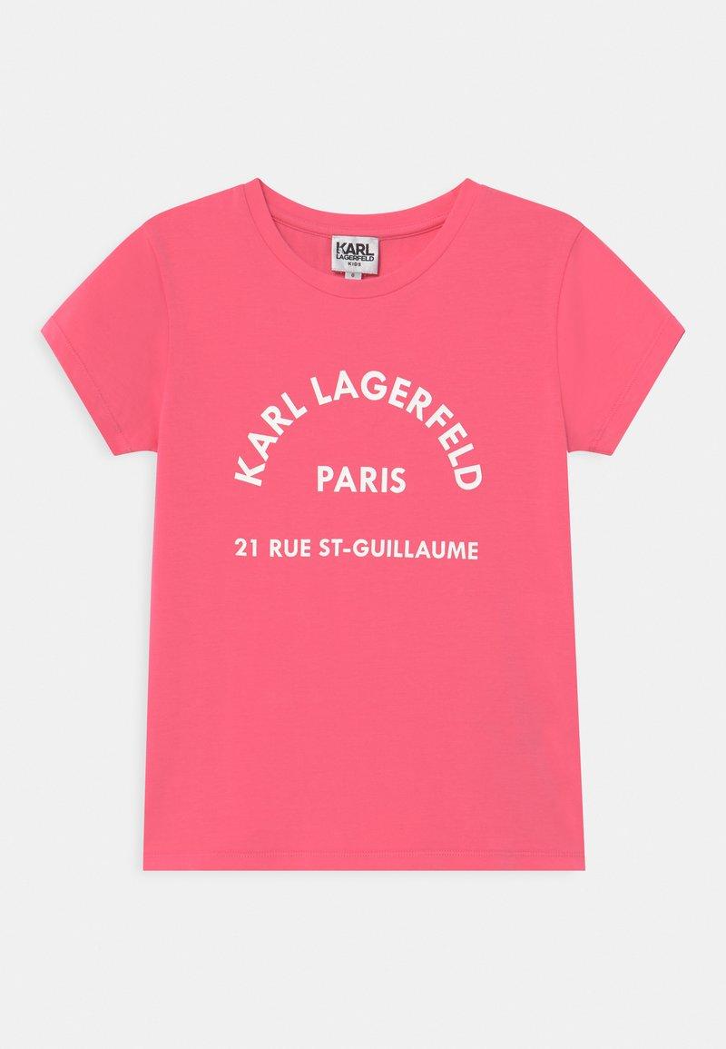 KARL LAGERFELD - SHORT SLEEVES  - Print T-shirt - rasberry