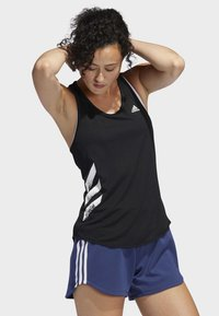 adidas Performance - OWN THE RUN 3-STRIPES PB TANK TOP - Sports shirt - black - 2