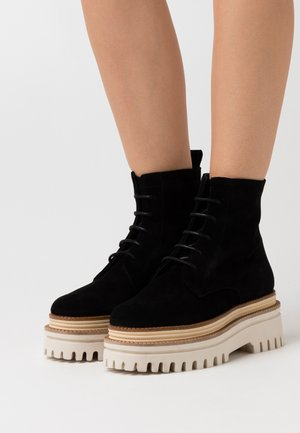 CASTELO - Platform ankle boots - black