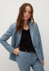 Mango - BOREAL - Trousers - bleu ciel - 4