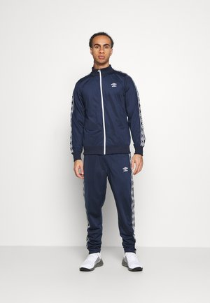 ACTIVE STYLE TAPED TRACKSUIT SET - Tracksuit - dark navy/white