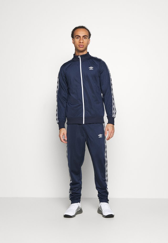 ACTIVE STYLE TAPED TRACKSUIT - Dres - dark navy/white