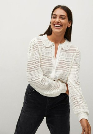 MAGGIE - Button-down blouse - blanco roto