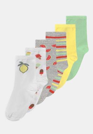 NKFFILINA 6 PACK - Socks - light grey melange
