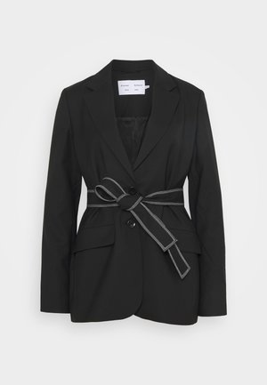STRETCH SUITING TIE - Short coat - black
