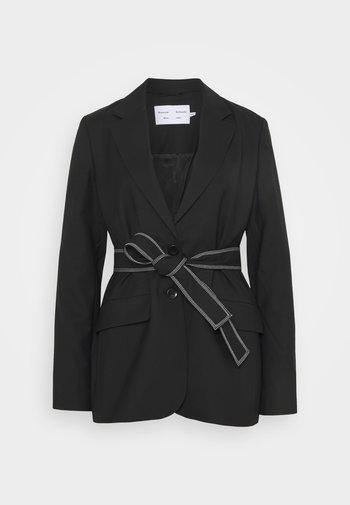 STRETCH SUITING TIE - Krátký kabát - black