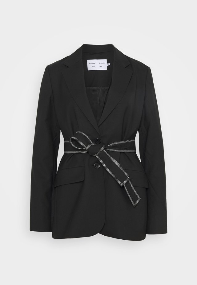 STRETCH SUITING TIE - Cappotto corto - black