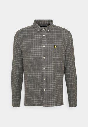 GRID CHECK - Shirt - mid grey marl