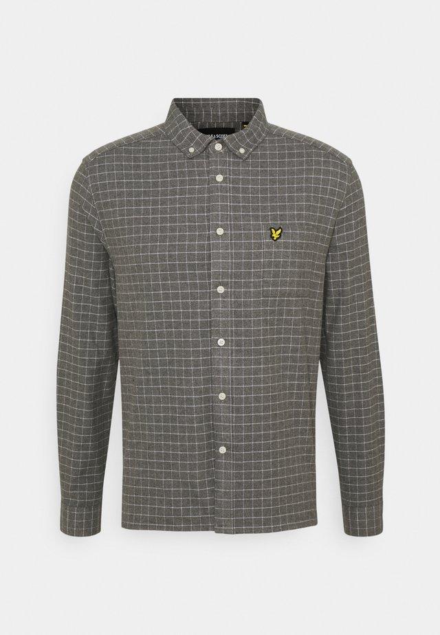 GRID CHECK - Camisa - mid grey marl