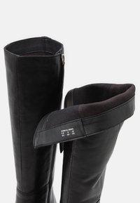 ASRA - KINGDOM - Boots med høye hæler - black - 5