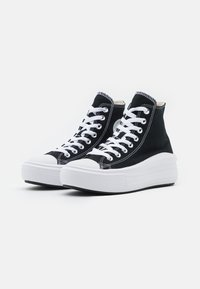 Converse - CHUCK TAYLOR ALL STAR MOVE - High-top trainers - black/natural ivory/white - 5