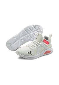 Puma - ENZO  - Neutral running shoes - puma white-ignite pink - 1