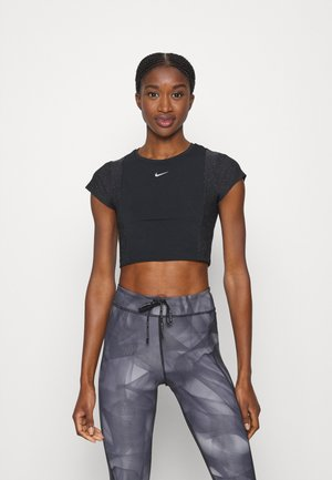 T-Shirt print - black/particle grey