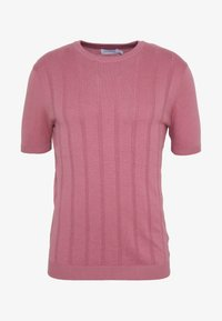POINTELLE CREW - Print T-shirt - pink