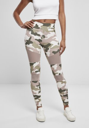 TECH - Leggings - Trousers - duskrose camo
