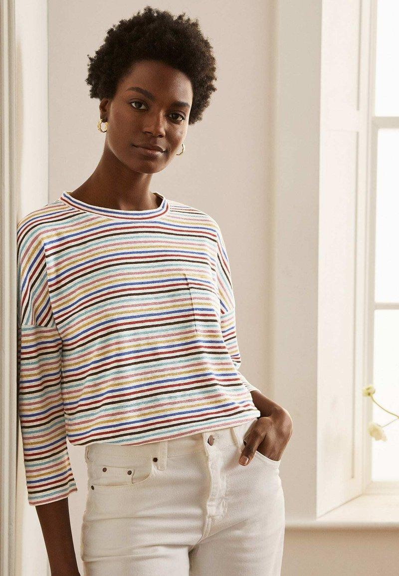 Boden - OTTILIE  - Long sleeved top - bunt/metallic regenbogenfarbene streifen